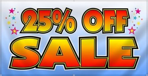 25% Big Sale