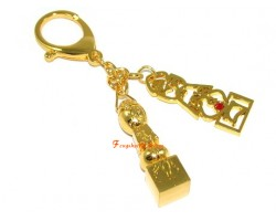 Family Pack 4 Pieces of 5 Element Pagoda with Seed Syllable Keychain