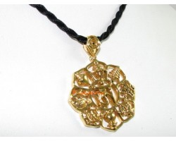 8 Auspicious Objects with Om Pendant (Golden)