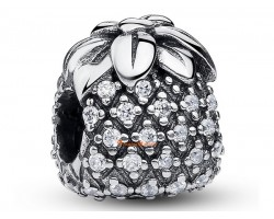925 Sterling Silver Bejeweled Pineapple Bead Charm