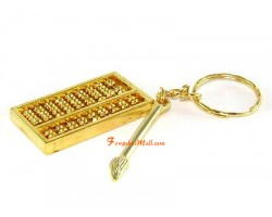 Abacus with Brush Keychain