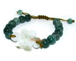 Adjustable Jade Mystic Knot Bracelet