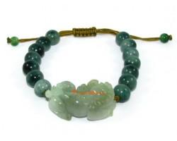 Adjustable Feng Shui Jade Piyao Bracelet