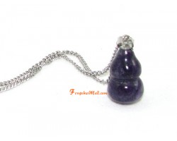 Amethyst Wu Lou Pendant for Health Luck