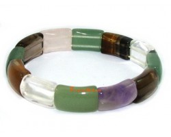 Assorted Crystal Bracelet (smooth rectangle)