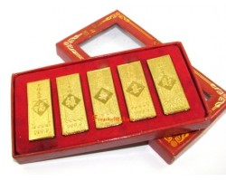 Auspicious Gold Bars Set - 5 Pieces