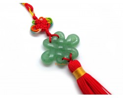 Aventurine Mystic Knot Tassel