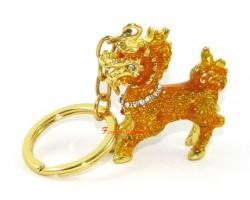 Bejeweled Chi Lin Keychain
