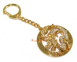 Bejewelled Dragon of Success Keychain