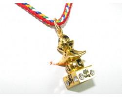 Bejeweled Five Element Pagoda Pendant (Gold)