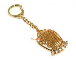Bejewelled Kalachakra Protection Amulet Keychain