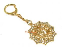 Bejewelled Mantra Keychain