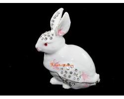 Bejeweled Wish-Fulfilling Rabbit (White)