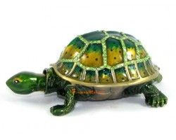Bejeweled Wish-Fulfilling Tortoise for Longevity
