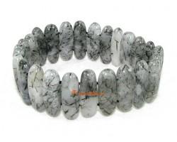 Black Rutilated Quartz Crystal Bracelet
