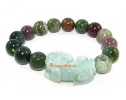 Jade Pi Yao Bloodstone Lucky Charm Bracelet