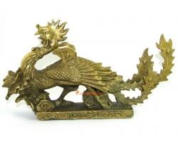 Brass Celestial  Phoenix with Peony