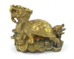 Brass Dragon Tortoise on Treasure