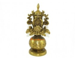 Brass Eight Auspicious Objects Statue