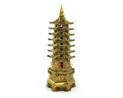 Brass 7-Level Feng Shui Pagoda