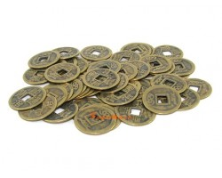 Brass Feng Shui Coins - 50 pieces
