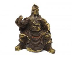 Brass Guan Gong Statue Reading A Book (s)
