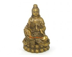 Brass Kuan Yin Goddess of Mercy
