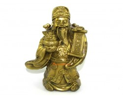 Brass Happy Wealth God with Wealth Pot
