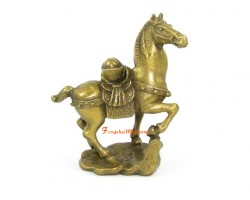 Brass Horse with Ingot (S)