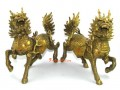 Brass Pair of Majestic Guardian Chi Lin