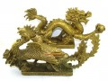 Brass Pair of Celestial Dragon and Phoenix