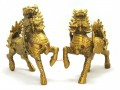 Brass Pair of Majestic Guardian Chi Lin (s)