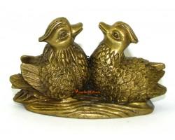 Brass Pair of Mandarin Ducks