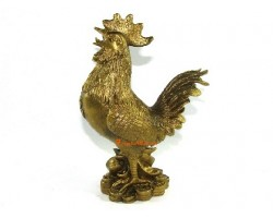 Brass Rooster on Treasure (L)