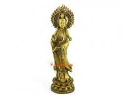 Brass Guan Yin Statue