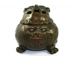 Bronze Pi Yao Incense Burner