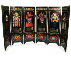 Chinese Tabletop Mini Screens - Facial Makeup of Peking Opera