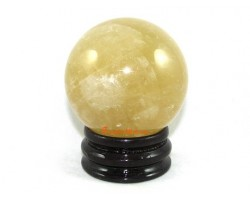 Citrine Crystal Ball (L) for Wealth Luck