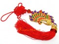 Bejeweled Colorful Peacock Tassel