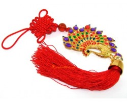 Bejeweled Colorful Peacock Tassels