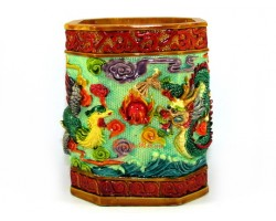 Colorful Dragon and Phoenix Pen Holder