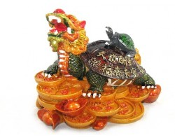 Colorful Feng Shui Dragon Tortoise