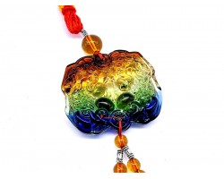 Colorful Liuli Pair of Piyao Tassel