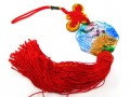 Liuli Temple Lion Biting Swords Tassel (Colorful)