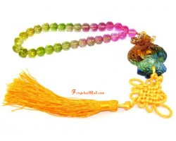 Colorful Liuli Wealth God Hanging Tassel