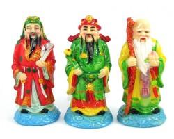 Colorful Fu Lu Shou - Three Star Deities