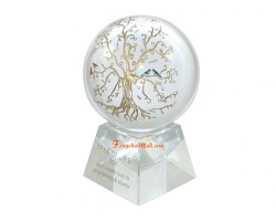 Crystal Globe with Tree of Life