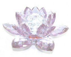 Crystal Feng Shui Lotus Flower (Light Purple)