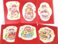 Chinese Red Packets with Colorful Gods of Wealth (6pcs)