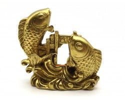 Brass Double Carps Crossing Dragon Gate